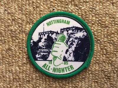 Vintage 1985 NORTHERN SOUL Patch Mods NOTTINGHAM ALL NIGHTER Lambretta Scooter