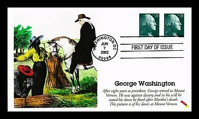 Dr Jim Stamps Us George Washington 23C Hand Colored First Day Cover