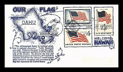 Dr Jim Stamps Us Hawaii Statehood Combo First Day Of Issue Cover