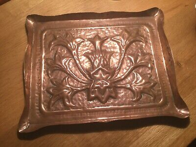 art nouveau Arts And Crafts Cooper Tray