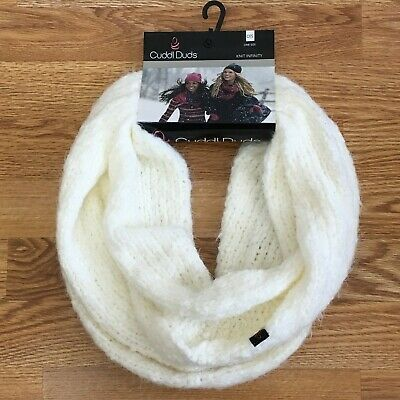 NEW Cuddl Duds Women's Infinity Loop Scarf Ivory Soft Knit Winter - Retails $38