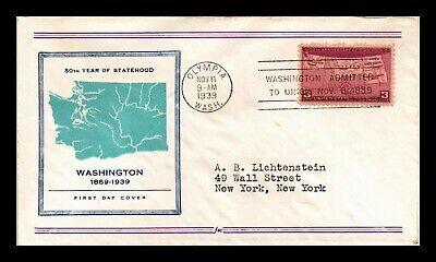 Dr Jim Stamps Us Washington Statehood Fifty Years Scott 858 On Cover