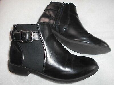 NEW LOOK 915 Generation girls Ankle Boots Size 4 EUR 37 Black side zips