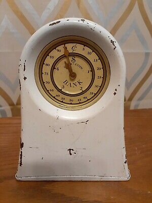 Vintage Kingsbury Mfg. Co. Metal Clock Bank