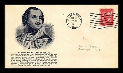 Dr Jim Stamps Us General Casimir Pulaski First Day Cover Scott 690