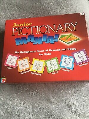 """""""JUNIOR - PICTIONARY MANIA"""" The Outrageous Game Of Drawing & Doing (VGC)"""