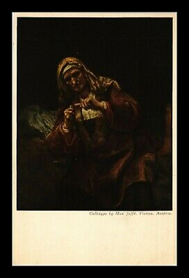 Dr Jim Stamps Rembrandt Old Woman Cutting Her Nails Topical Postcard