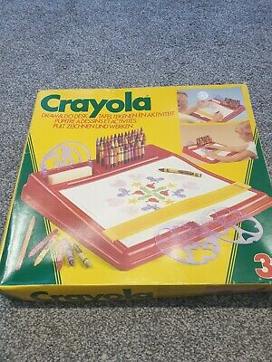 Vintage 1985 Crayola Designer My Draw and Do Desk Creativity Drawing