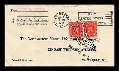 Dr Jim Stamps Us New Orleans Postage Due Cover Slogan Cancel