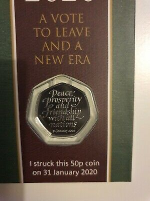 Strike Your Own Withdrawal From The EU BREXIT Jan 31st 2020 50p Coin.