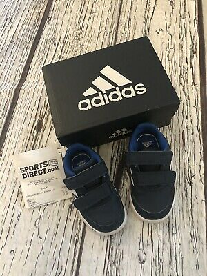 Baby Boys Blue Infant Size 5 Adidas Ortholite Trainers Blue Worn Once Velcro