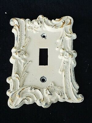 Vintage MCCO Ornate metal Single Switch Cover Plate