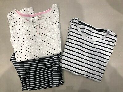 Girls Clothes Age 10-12 Excellent Condition H&M Pjs And Top 2 Items Blue White