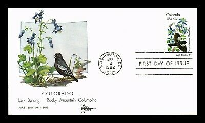 Dr Jim Stamps Us Colorado State Bird Flower Gill Craft First Day Cover