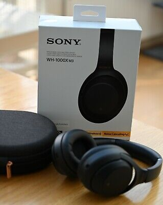 Sony WH-1000XM3 Wireless Noise Cancelling Headphones - Black, used very good