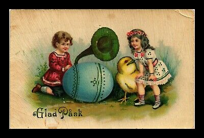 Dr Jim Stamps Happy Easter Egg Chick Children Topical Greetings Postcard