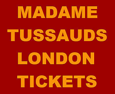 4 Madame Tussauds London Tickets Thursday 26th March 3pm ~ 26/03/2020 RRP £140