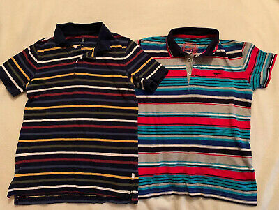 Boys Age 9-10 Years T-Shirt Bundle Blue Zoo Gap Striped 2 Items Great Condition