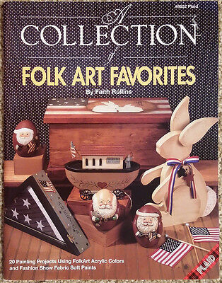 Folk Art Favorites By Faith Rollins SIGNED Holiday Designs Tole Painting Book.