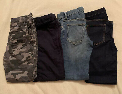 Boys Age 10 Years Gap Jeans Trousers Bundle Blue Camo 4 Pairs Great Condition