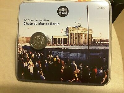 DISPO 2 euro FRANCE 2019 Commémo Chute du mur de Berlin. BU.