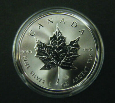 2017 Canada $5 1oz Silver Maple Leaf Bullion Coin .9999 Fine BU dollar round