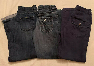 Boys Age 10-11 George Jeans Trousers Bundle Blue Great Condition 3 Pairs