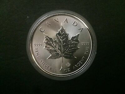 2018 Canada $5 1oz Silver Maple Leaf Bullion Coin .9999 Fine BU dollar round