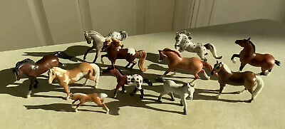Breyer Horse Lot Of 11 Stablemates Mixed Colors, Breeds, Stances, Nice