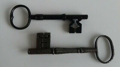 2 Large Antique 18th Century Iron Keys. Church Castle