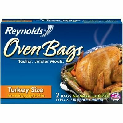 1 Box Reynolds Kitchens Oven Bags (2 bags) Turkey Size Meats & Poultry 8-24 lbs