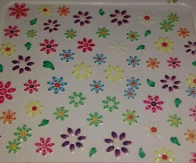 Lot of 12 Nail Art Art Decal Self Adhesive Flowes Stickers