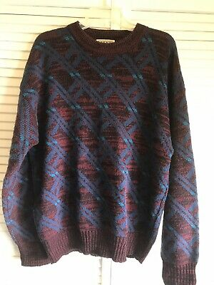 Vintage 90's Cosby Sweater Men's L Large Trend Basics Red Blue