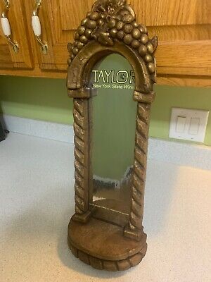 Vintage Taylor New York State Wines Bar Wall Display Holder For A Bottle Of Wine