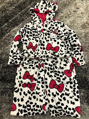 M&S Girls Hello Kitty Dressing Gown - Size 7-8 Years
