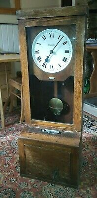 Simplex clocking in clock - Clock in working condition - with key and winder