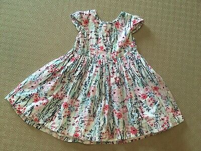Baby Girls Lined Floral Dress From George Age 6-9 Months  Ex Cond
