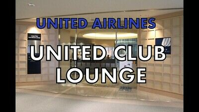 TWO United Club One-time Passes Valid Through July, 11, 2020 E-delivery Only