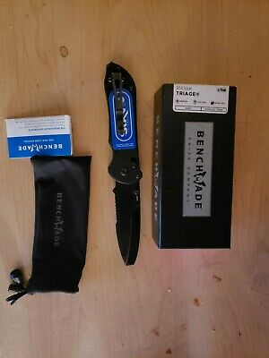 USED Benchmade TRIAGE, AXIS, OP BEVEL, HK MPN: 916SBK Rescue Hook Black Medic