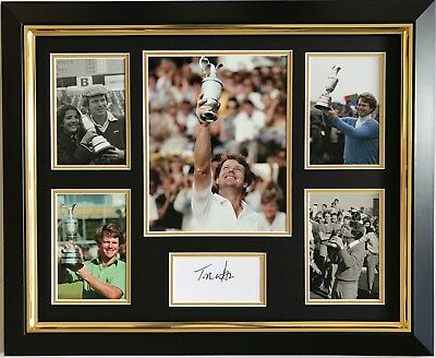 Tom Watson Hand Signed Framed Photo Display Golf Open Autograph.