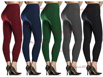 NEW WOMEN/'S LADIES THICK WINTER THERMAL FLEECE LEGGINGS WARM SIZE 6-16