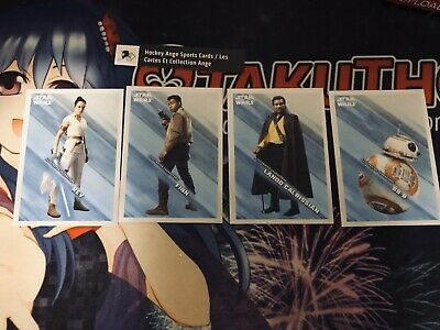 Topps Star Wars Journey To The Rise Of Skywalker Lot Of 4 Illustrated Characters