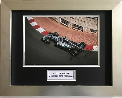 Valtteri Bottas Hand Signed Autograph Framed Photo Display Mercedes Amg Petronas