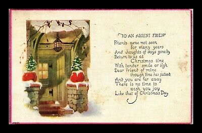 Dr Jim Stamps Us To An Absent Friend Christmas Greetings Topical Postcard