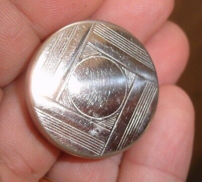 old antique 30s mini German ART DECO chrome PILL coin gem stamp BOX case Germany