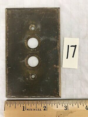 Vintage ARROW Solid Brass Push Button Single Light Switch Wall Cover Plate #17