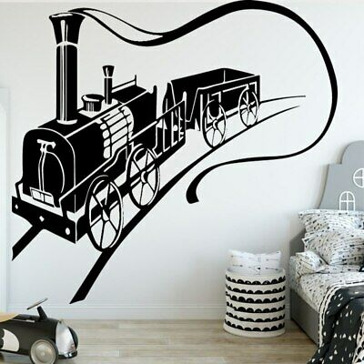 Galloping Train Wall Sticker Removable Wall Stickers DIY Wallpaper for Living