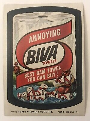 1974 Topps Wacky Packages Biva Towels 8th Series Non-Sports