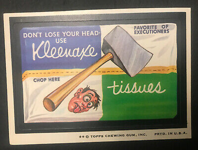 1974 Topps Wacky Packages 8th Series 8 KLEENAXE TISSUES