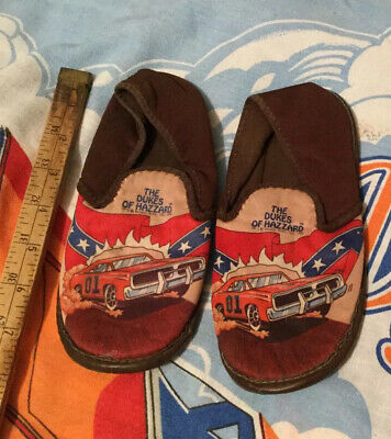 1981 The Dukes Of Hazard Kids Slippers General Lee Warner Bros Hard To Find